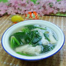 菠菜虾潺汤