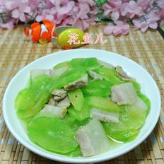 白肉炒莴笋