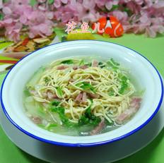 咸肉白菜煮干丝