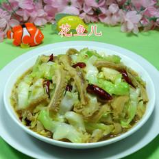 牛肚炒圆白菜