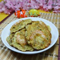 虾仁雪菜鸡蛋饼