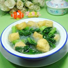 油豆腐粉丝菜芯