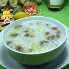 圆白菜牛筋丸大米粥