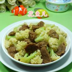 牛筋丸炒花菜