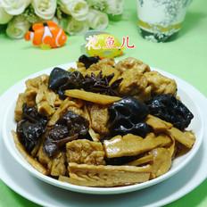 黑木耳小油豆腐烧水笋