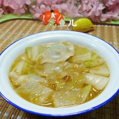 白菜粉皮煮饺子