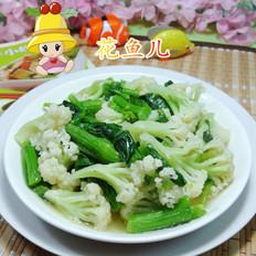 油菜蕻炒花菜