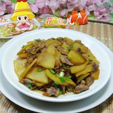 鸡胗炒土豆
