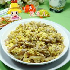 榨菜丝肉末炒鸡蛋