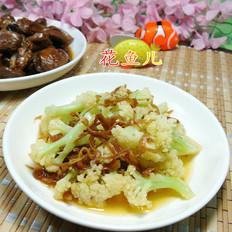 丁香鱼炒花菜