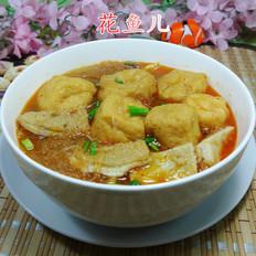 油豆腐粉丝牛肚汤