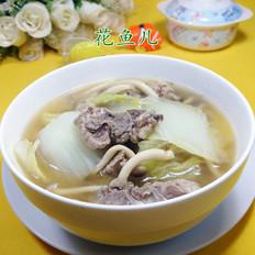蟹味菇白菜龙骨汤