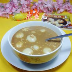 咖啡燕麦片汤圆