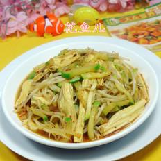 腐竹绿豆芽炒西葫芦