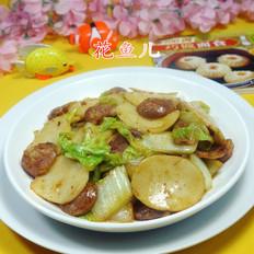 麻辣香肠白菜炒年糕