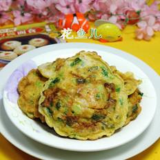 芹菜虾肉鸡蛋饼