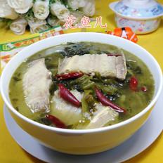 酸菜煮玉秃鱼