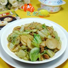 五花肉生菜炒年糕