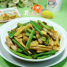 腐竹五花肉炒梅豆