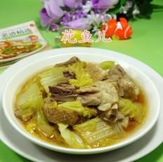鹅肉炒白菜