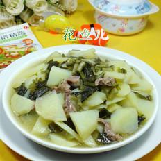 鸡胗雪菜炒土豆