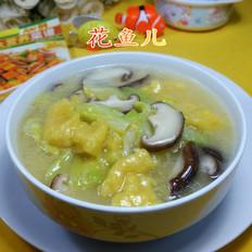 香菇白菜玉米面疙瘩