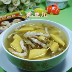 榨菜肉丝玉米粉疙瘩块