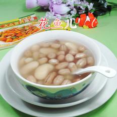 花生米白芸豆甜汤