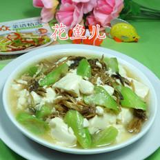 笋干菜丝瓜煮豆腐