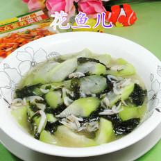 紫菜虾皮煮长瓜