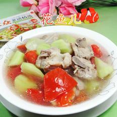 西红柿长瓜排骨汤