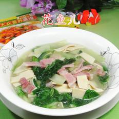咸肉千张煮小白菜