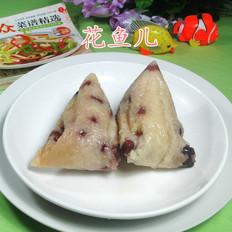 蜜枣红豆糯米粽