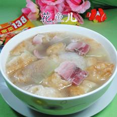 咸肉油条冬瓜汤