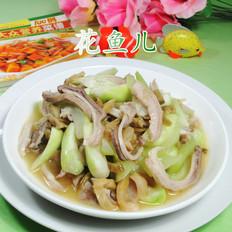榨菜丝猪肚炒长瓜
