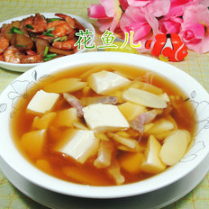咸肉鞭笋豆腐汤
