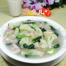 咸肉青菜花菜羹