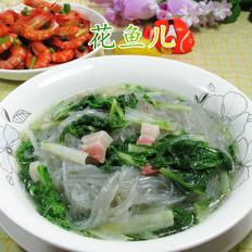 咸肉小白菜煮粉条
