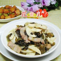 猪肉酸菜炒茭白