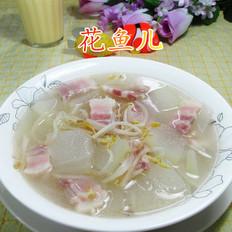 咸肉绿豆芽冬瓜汤