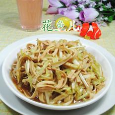 韭菜芽炒千张