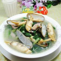 咸肉小白菜蛏子汤