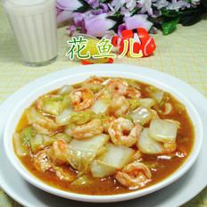 咖喱虾仁白菜