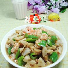 尖椒虾仁炒莲藕