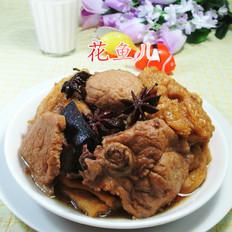兰花豆腐干烧大排