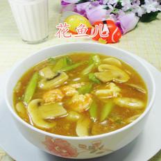 虾仁芦笋蘑菇羹