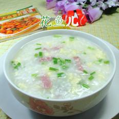 鸡蛋咸肉大米粥