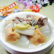 油豆腐白菜肉骨汤