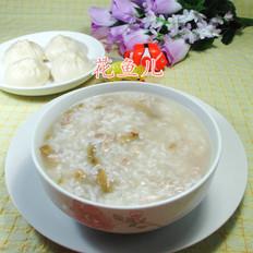 榨菜肉丝大米粥