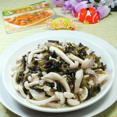 雪菜五花肉炒白玉菇